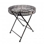 Стол складной садовый металлический 70х75х70 см