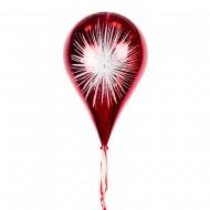 Новогоднее украшение Шар в форме Капли  Фейерверк Красный 33 см