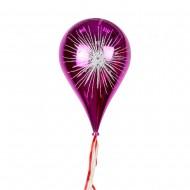 Новогоднее украшение Шар в форме Капли  Фейерверк розовый 33 см
