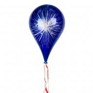 Новогоднее украшение Шар в форме Капли  Фейерверк Синий 33 см