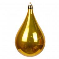 Новогоднее украшение Шар в форме Капли  Золото 33 см