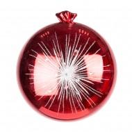 Новогоднее украшение Шар 30 см Фейерверк красный
