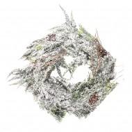 Новогоднее украшение Венок еловый с шишками 40 см