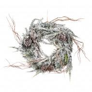 Новогоднее украшение Венок еловый с шишками 30 см