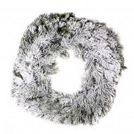 Новогоднее украшение Ветка еловая в инее 40 см