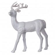 Новогоднее украшение Олень белый 42х29 см