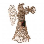 Новогоднее световое украшение  Ангел 60 см (цвет шампань)
