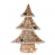 Новогоднее световое украшение Елка  40 см (цвет шампань)