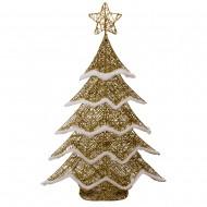 Новогоднее световое украшение Елка  80 см  (цвет золото)
