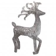 Новогоднее световое украшение Олень 100 см (цвет серебро)