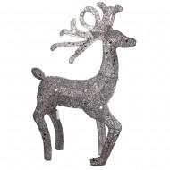 Новогоднее световое украшение Олень 120 см (цвет серебро)