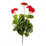 Цветок искусственный Герань красная 50 см
