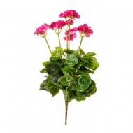 Цветок искусственный Герань розовая 50 см