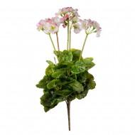 Цветы искусственные Герань бело розовая 50 см