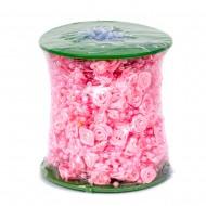 Декоративные бусы розовые Цветы 30 м в рулоне