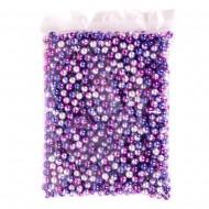 Набор бусин (пурпурного цвета)  8 мм 250г в пакете