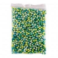 Набор бусин (голубого цвета) 8 мм 250г в пакете