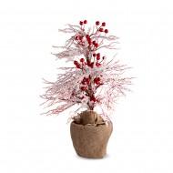 Новогоднее украшение Дерево во льду с ягодами 45 см