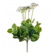 Цветок искусственный  Герань белая  50 см