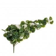 Цветок искусственный Герань ампельная белая  80 см