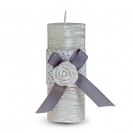 Свеча ароматизированная Бант с розой 13х5 см