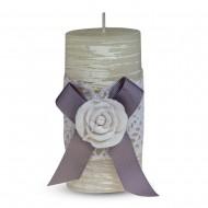 Свеча ароматизированная Бант с розой 11х5 см