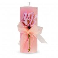 Свеча ароматизированная Букет каллов 13х5 см розовая