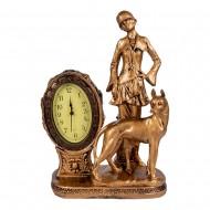 Часы статуэтка Девушка и собака 40х27 см