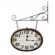 Часы на кронштейне двусторонние 63х40х11,5 см