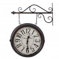 Часы на кронштейне двусторонние черные  54,5х17х55 см