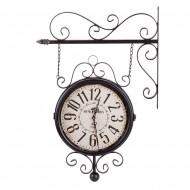 Часы на кронштейне двусторонние черные 40х10х69 см