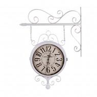Часы на кронштейне двусторонние белые 40х10х69 см