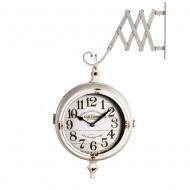 Часы на кронштейне двусторонние белые 50х13х50 см
