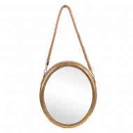 Зеркало подвесное металлическое  31х26,5х6 см