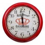 Часы настенные красные 93х93 см