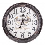 Часы настенные черные 64х64 см