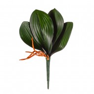 Цветы искусственные Листья Орхидеи 23 см