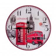 Часы настенные круглые Лондон 34х34 см