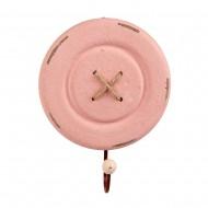 Вешалка Пуговица розовая 13,5 см
