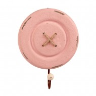 Вешалка Пуговица розовая 15,8 см