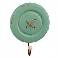 Вешалка Пуговица зеленая 15,8 см