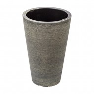 Горшок для цветов с кашпо серый 30х30х45 см