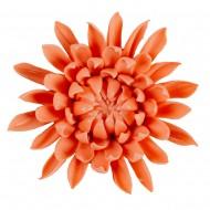 Цветок декоративный керамический головка Хризантемы оранжевый 9 см