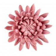 Цветок декоративный керамический головка Хризантемы розовый 9 см