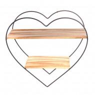 Полка подвесная сердце  50х50 см
