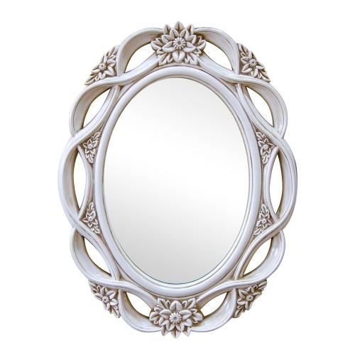 Зеркало настенное белое 100х76 см