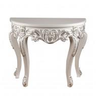 Столик консольный белый 90х80 см