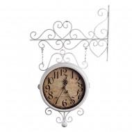 Часы на кронштейне белые 36х10х5 см