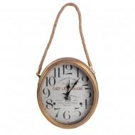 Часы настенные металлические с верёвкой 31х6х52 см