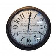 Часы настенные металлические черные 93х93 см
